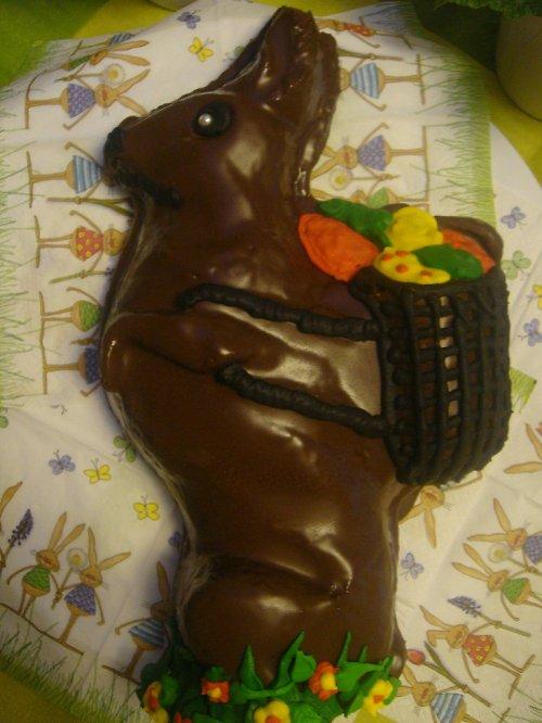 Velikonoční čokoládový zajíc