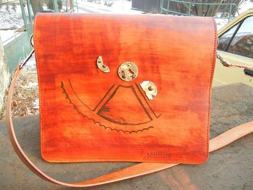 Velká kožená taška steampunk style