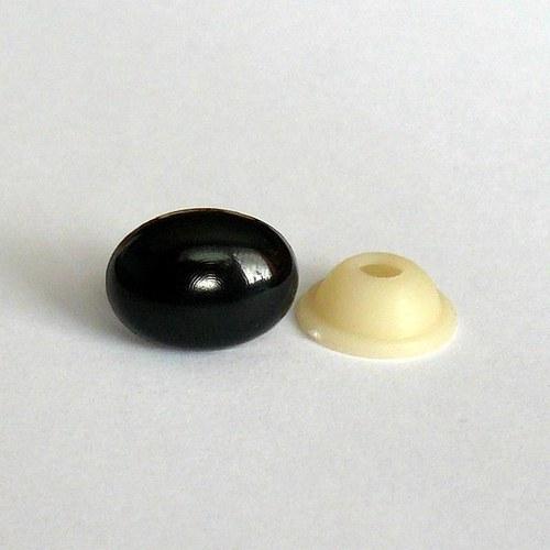 Bezpečnostní nos oválný - černý (12x9mm)