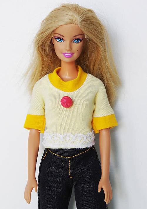Žlté tričko pre Barbie