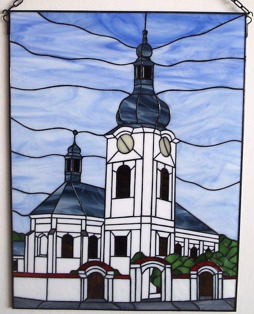 Vitráž kostel sv. Jana Křtitele v Manětíně