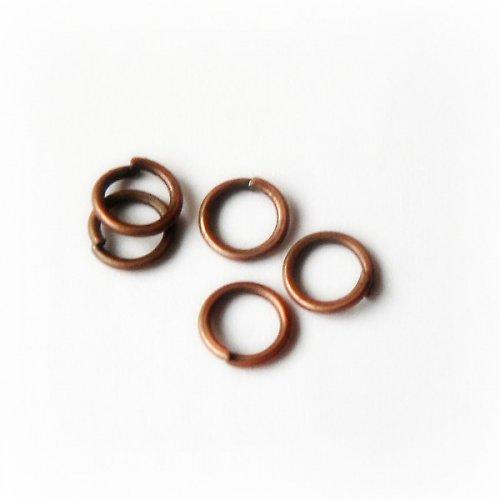 spojovací kroužky měď 5mm - 50ks