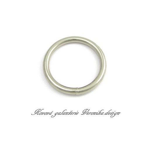 Galanterní kroužek  30 mm - nikl