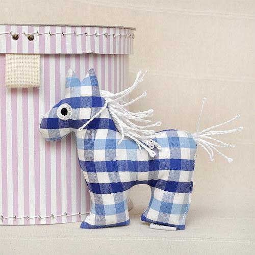 Koník modrý - textilní  hračka