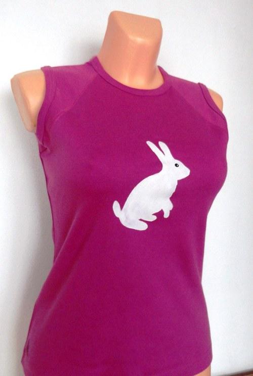 Tričko dámské Zajíček bílý
