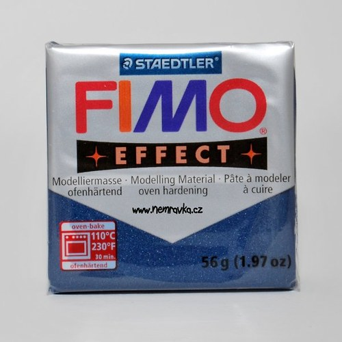 FIMO Effect / Metalická safírově modrá (38)