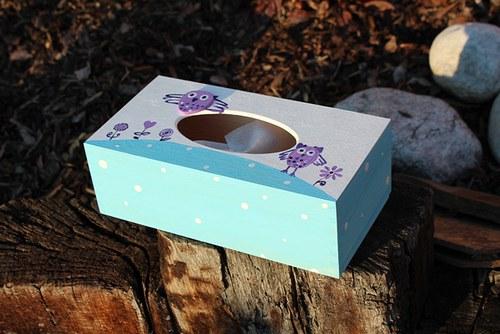 Krabička na kapesníčky ze série SOVA