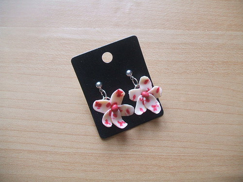 naušnice-růžové kvítky 2