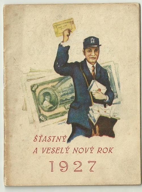 Poštovní knížka 1927