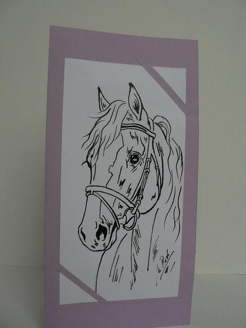 Přání lila s koníkem