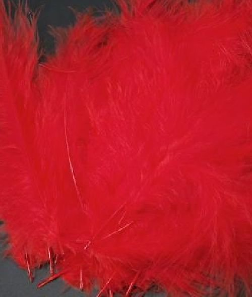 Ozdobné peří 12-17 cm: Červené
