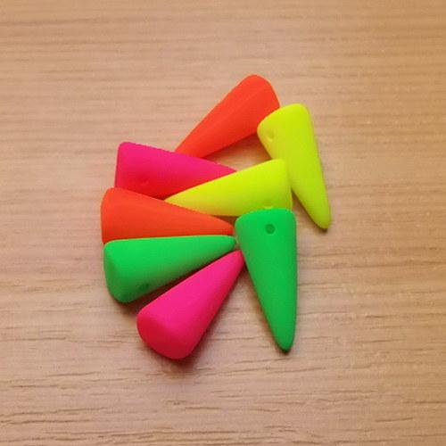 Neonové spiky 6 x 14mm - směs