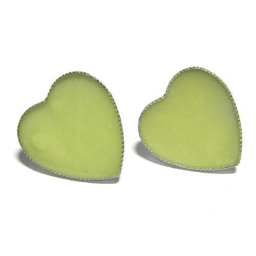 Svítící naušnice - srdce kolík
