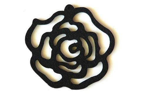 dřevěná růže- černá