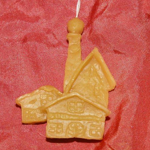 vánoční ozdoba - domečky -  včelí vosk