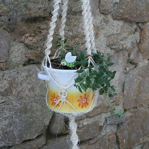 Závěs na květináč KLASIK