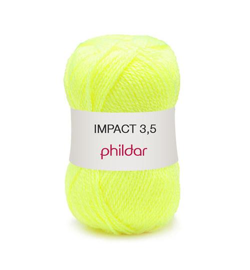 Sleva Phildar Impact 3,5 odstín Jaune Fluo