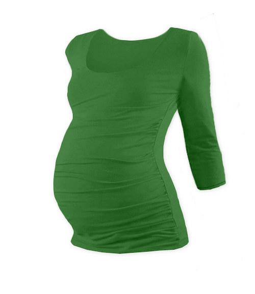 Těhotenské tričko 3/4 rukáv tmavě zelené