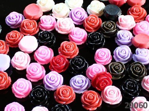 20060-20 Kabošon květ růže MIX 20ks!!