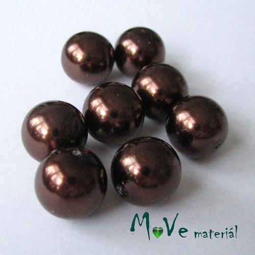 České voskové perle12mm/8ks (cca 20g), hnědé