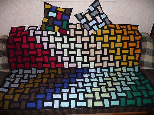 Patchworková deka - barevnice.