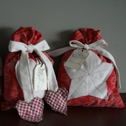 Fotonávod na vánoční pytlíčky a razítka