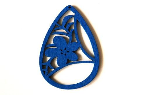 Dřevěné kapky- modré