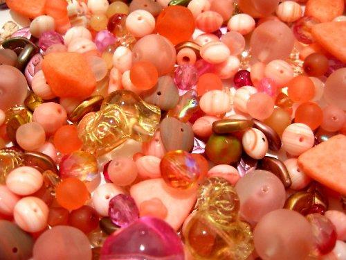 1500028/Mix růžových mačkanic,20g