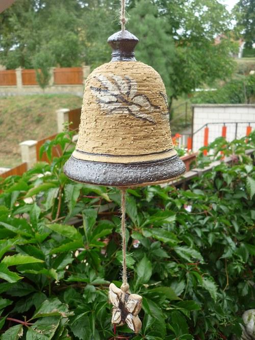 Keramický zvon - motýli-13cm