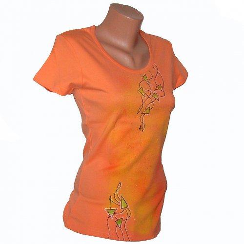 Triko malované - meruňková