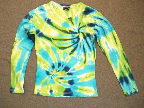 Dámské batikované tričko-dlohý raglánový rukáv