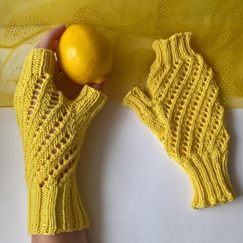 Citronové bezprstové rukavice