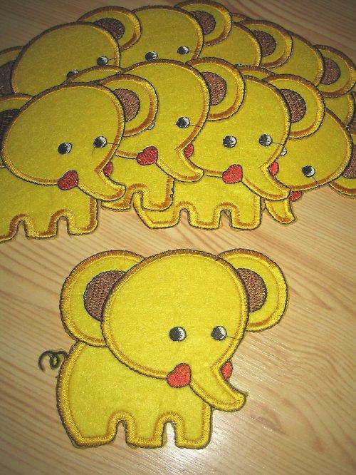 nažehlovačka - slon žlutý velký
