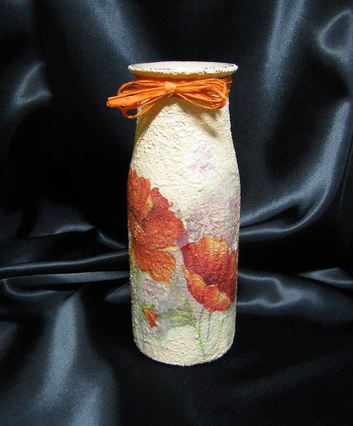 dekorační láhev MAKOVÁ