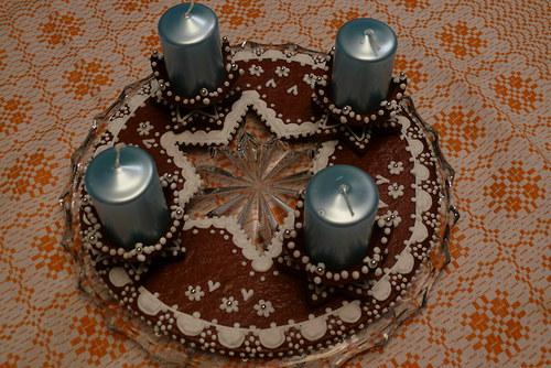 Perníkový adventní svícen