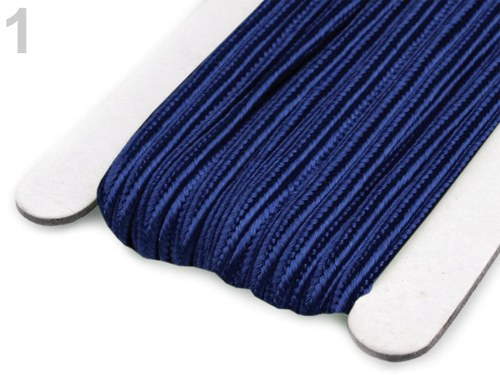 Sutaška šíře 3mm modrá-3metry