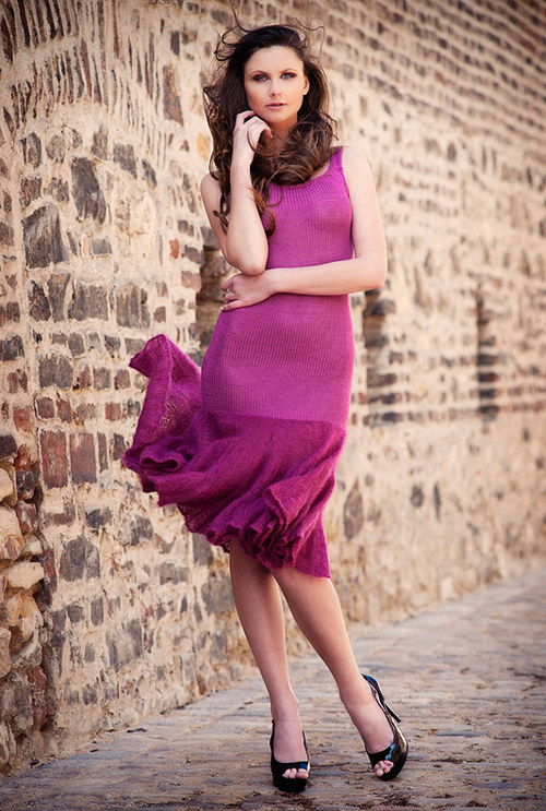 Popis - návod na pletené šaty Dirty Dancing