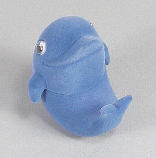 Modrý delfín - sametová krabička na šperky