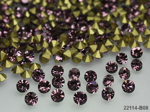 22114-B08 Kónické šaton kamínky 5mm RŮŽOVÉ,bal.10