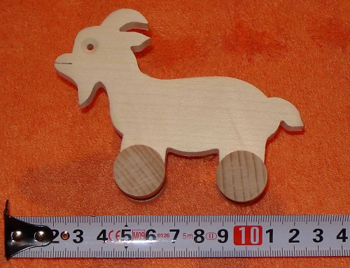 koza - dřevěná hračka