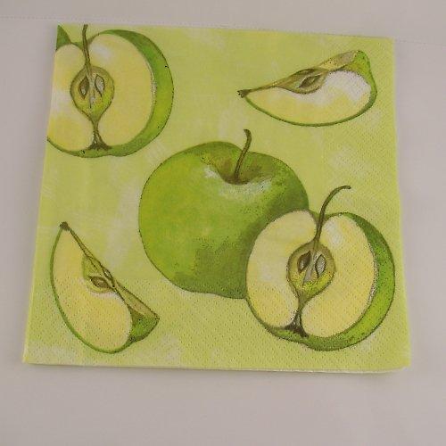 Ubrousek na decoupage - jablíčka - 33 x 33 cm