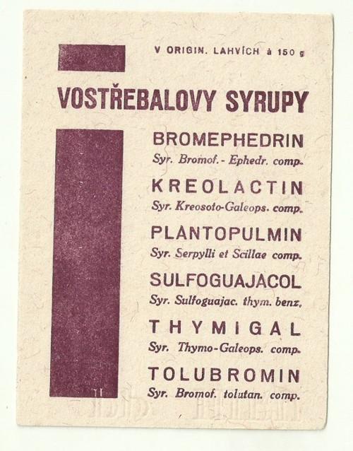 Reklamní savý papír piják Vostřebalovy sirupy