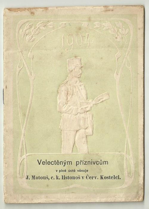 Poštovní knížka 1904