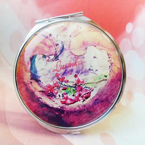 zrcátko Ze srdce ♥ - text na přání