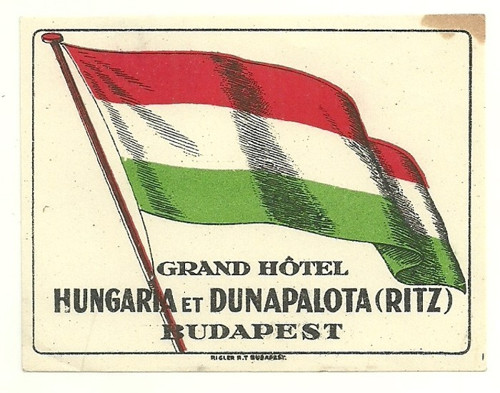 Hotelové nálepky Grand Hotel Budapest