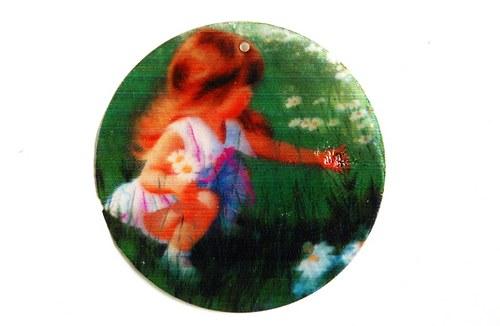 383 perleťové placky tenké - holčička