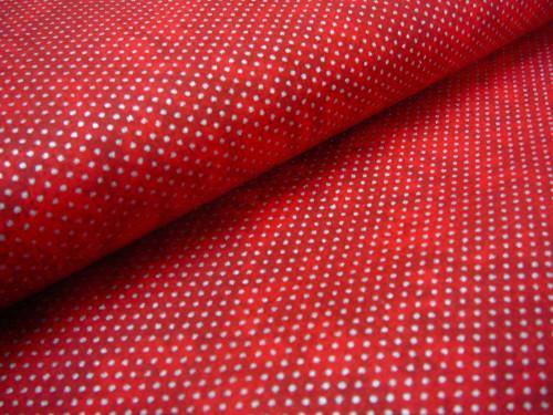 metráž - stříbrný puntíček na červeném mramoru