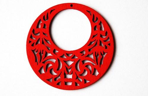 dřevěné kolečko- červené