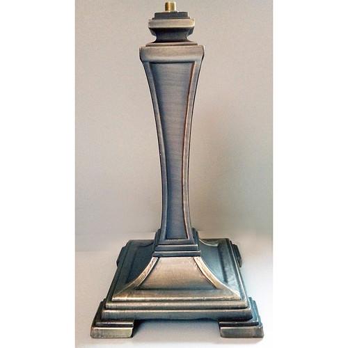 Tiffany lampa - noha (101), v. 26cm, staromosaz