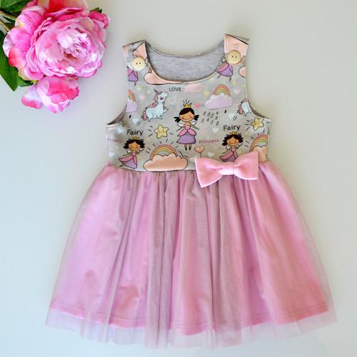 Dívčí šaty Princezna s tylovou sukní vel. 74/80